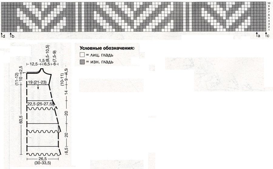 Для вязания безрукавки узоры 35