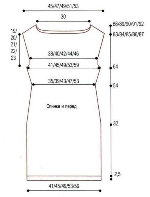 Готовая выкройка платья 60 размера